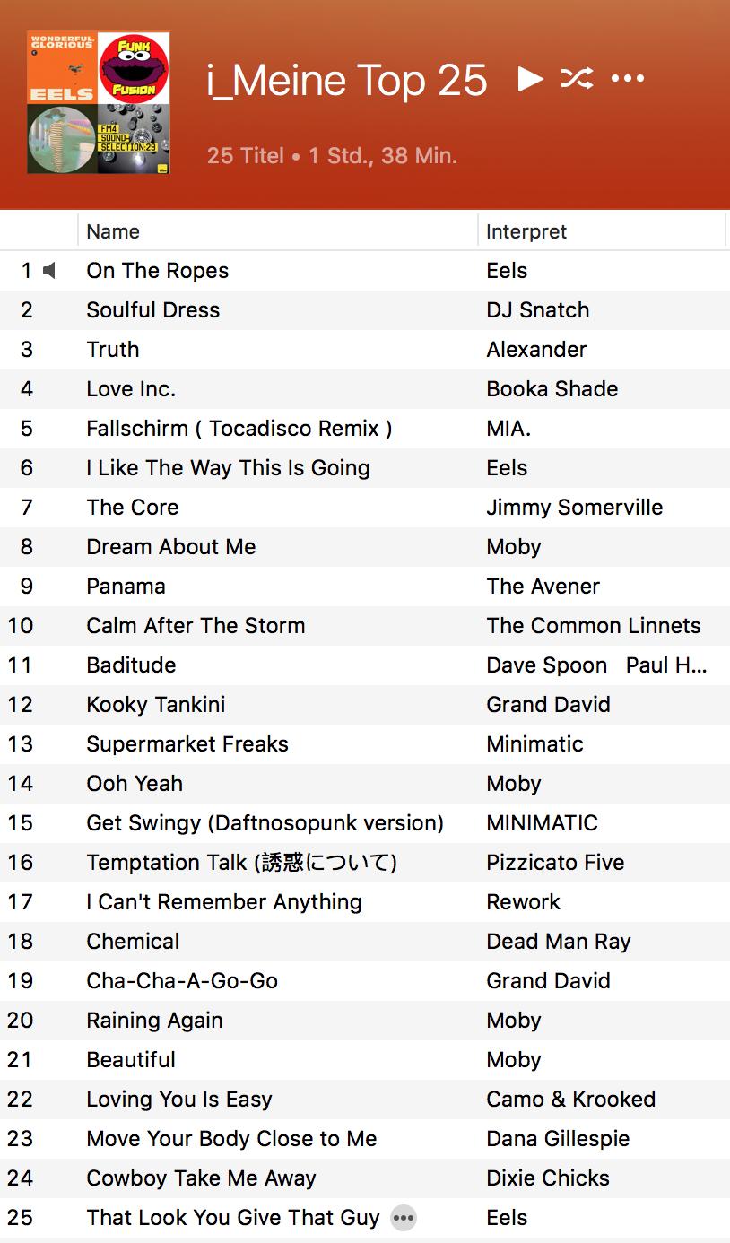 Top 25 iTunes-Charts 2015 djkonski